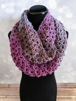Frosted Berry Infinity Scarf