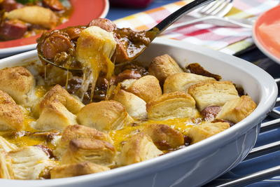 Chili Dog Bubble-Up Bake