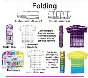 Folding Tie Dye Technique