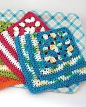 Granny Crochet Dishcloth