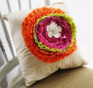 Romantic Ruffled Pillow