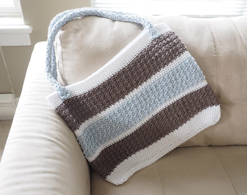 Aligned Cobble Stitch Anytime Tote