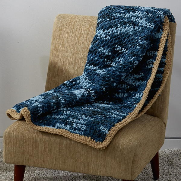 Image shows the Honestly Easy Tunisian Crochet Afghan.