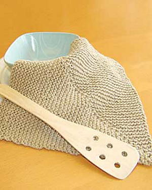 Mitered Knit Dishcloth
