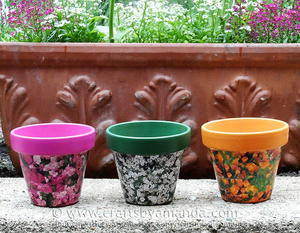 Decoupaged Seed Packet Clay Pots