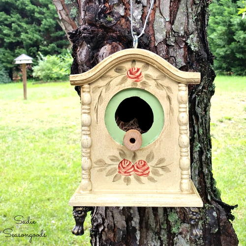 Upcycled Clock Birdhouse