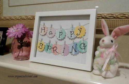 Ombre Paint Chip Art for Spring