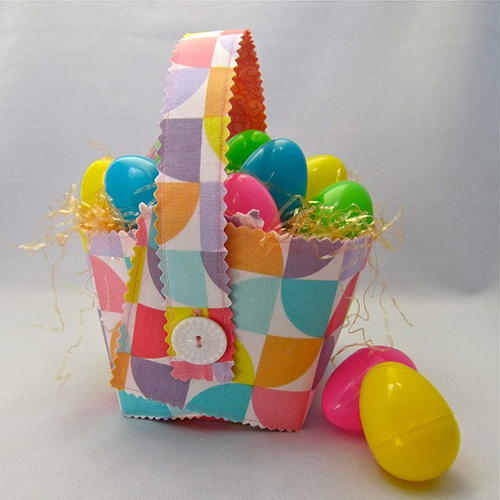 Collapsible Fabric Easter Basket