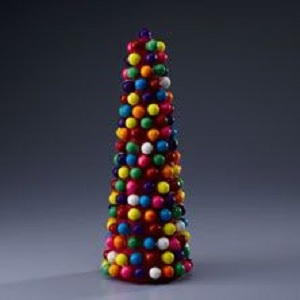 Colorful Gumball Party Centerpiece