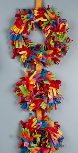 Colorful Tissue Wreaths