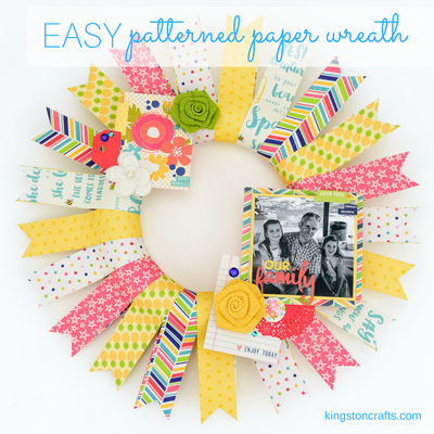 Easy Patterned Paper Wreath