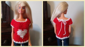 Valentine's Heart Sweater for Barbie
