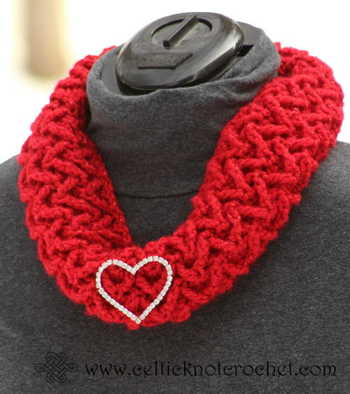 Textured Sparkle Scarf and Cowl