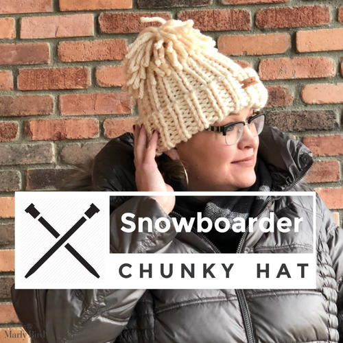 Knit Snowboarder Chunky Hat