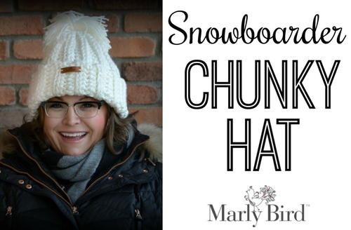 Crochet Snowboarder Chunky Hat