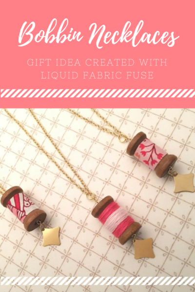 No-Sew Bobbin DIY Necklace Pendant