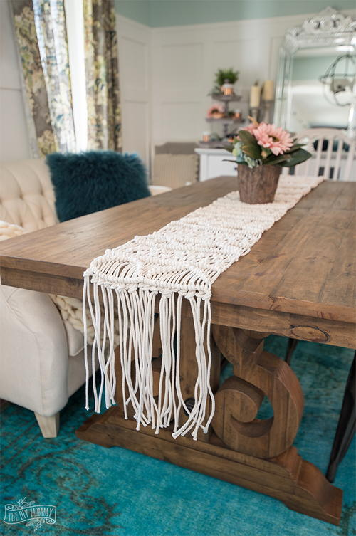 Anthropologie-Inspired Macrame Table Runner