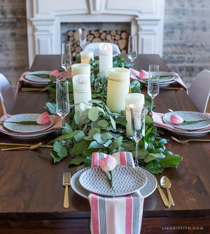 Fresh Greenery Table Runner