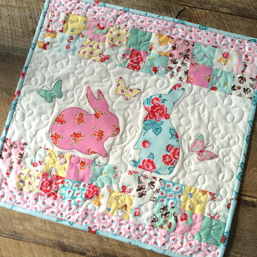 EZ Print Bunny Applique Pillow and Mini Quilt