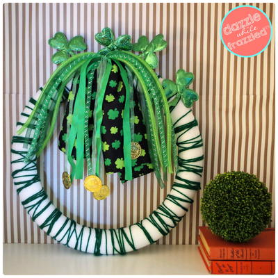Shamrock and Ribbon St. Patrick's Day Wreath