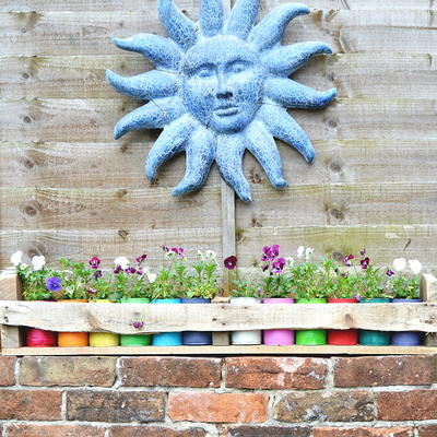 Upcycled Tin Can Planters and Pallet Holder