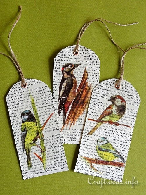 Quick and Easy Bird Bookmarks