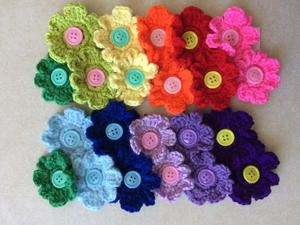 Hair Flower No-Slip Clips