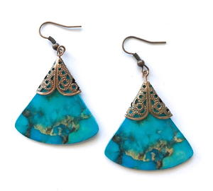 Easy Card Stock Earrings