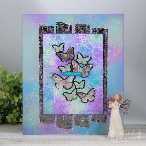 Choose Happy Mixed Media Canvas