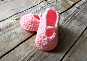 Baby Ballet Slippers Crochet Pattern