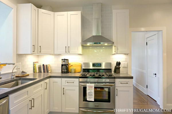 Classic White Kitchen Remodel on a Budget