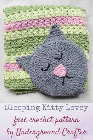 Kitty Crochet Baby Lovey Blanket