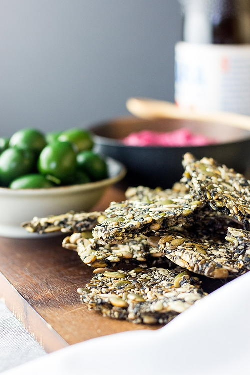 Easy Homemade Five Seed Crackers