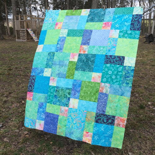 Easy Peasy Disappearing Nine Patch Quilt
