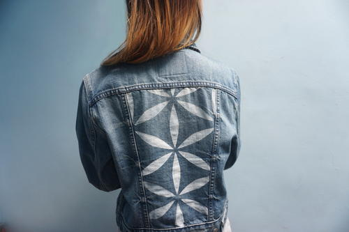 Patterned Denim Jacket