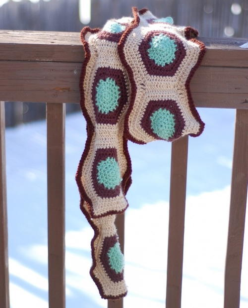 Hexagon Crocheted Scarf