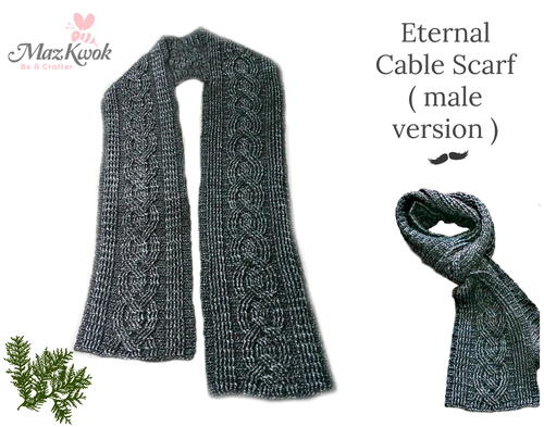 Eternal Cable Scarf (Male Version )