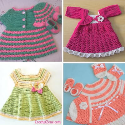 cabe5582b570 16 Adorable Crochet Baby Dress Patterns (Free!) | AllFreeCrochet.com