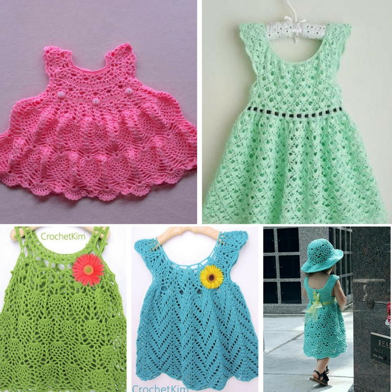 16 Adorable Crochet Baby Dress Patterns Free Allfreecrochetcom