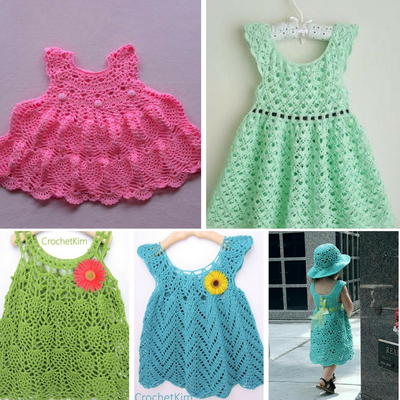 Lacy Crochet Baby Dress Patterns
