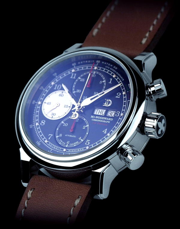M1-Woodward Blue Dial 44mm Swiss Automatic