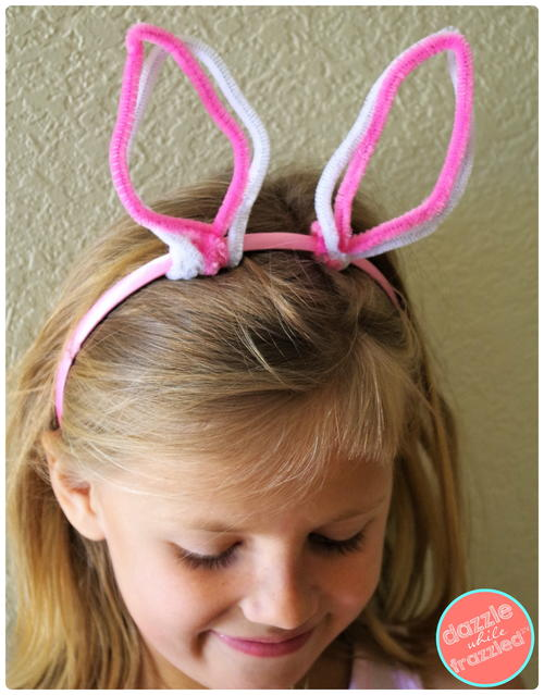 Make Easter Bunny Ears with Pipe Cleaners