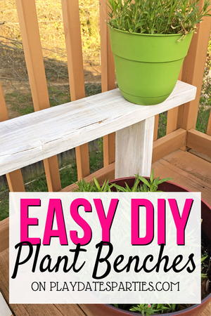 Swell Easy Diy Plant Benches For Potted Plants Diyideacenter Com Caraccident5 Cool Chair Designs And Ideas Caraccident5Info