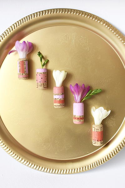 Special DIY Cork Flower Vases