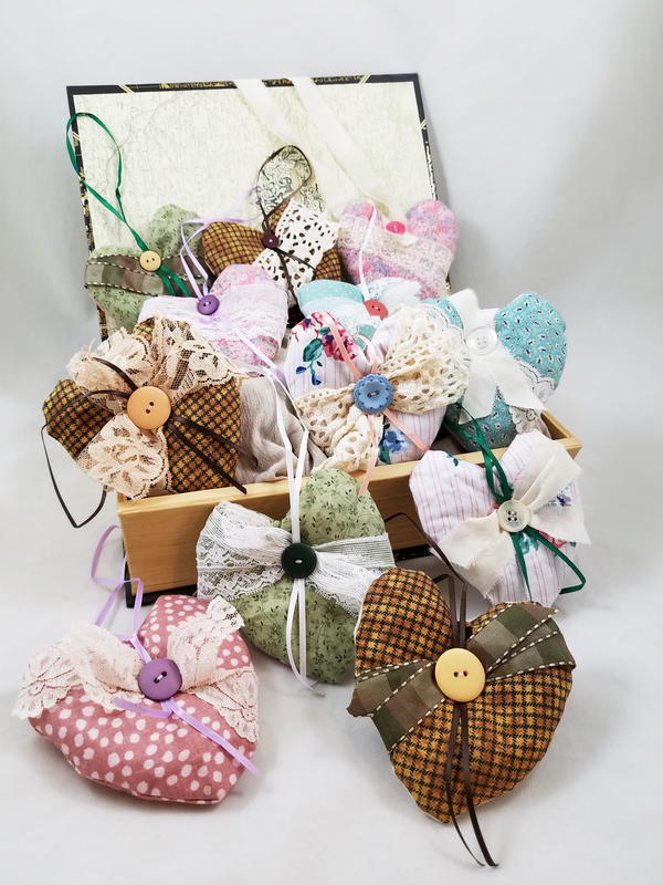 Upcycled Fabric Cedar Sachets