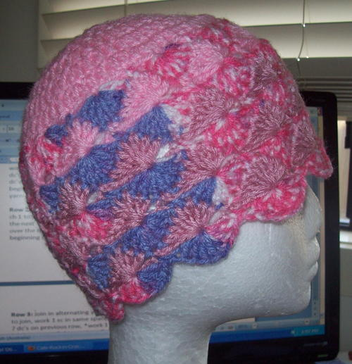 Crochet Catherine Wheel Hat