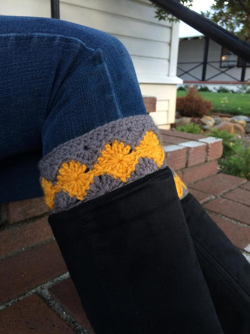Crochet Diamond Boot Cuff
