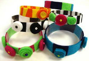 Faux Felted Water Bottle Bracelets