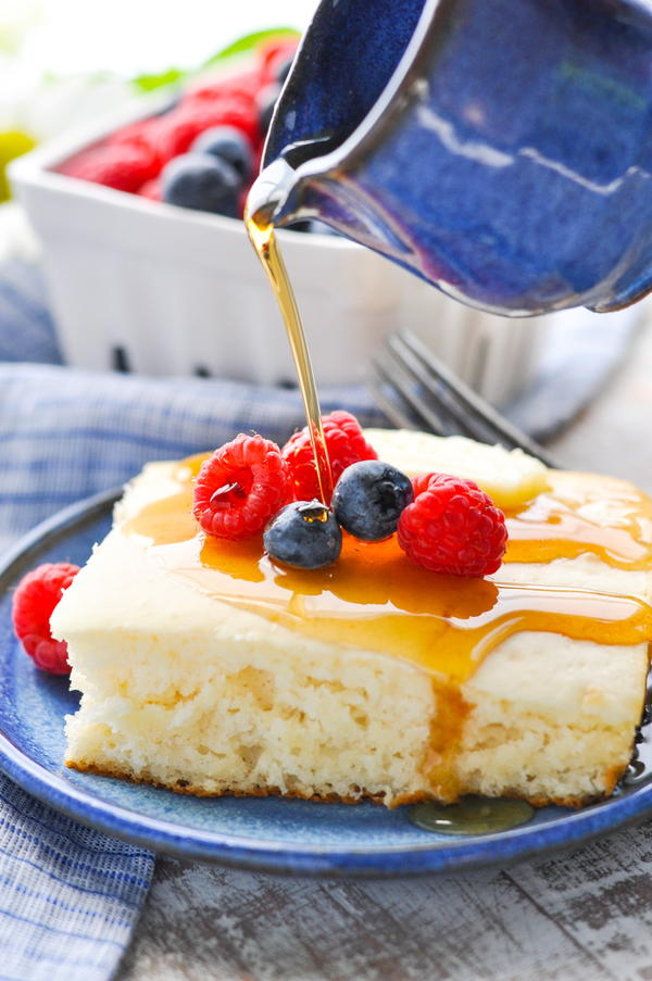 Rise and Shine Buttermilk Pancake Casserole Recipe