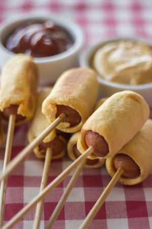 Homemade Baked Corn Dogs